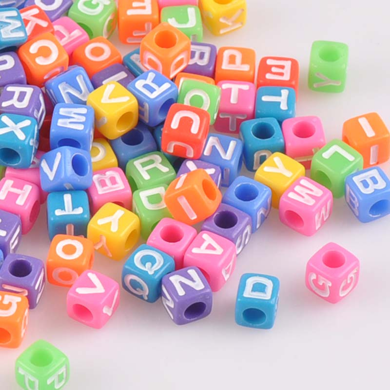 Hearty 100pcs 8mm White Neon Mixed Alphabet Letter Acrylic Round Spacer Beads For Jewelry Making Diy Ykl0225x Jewelry & Accessories Beads