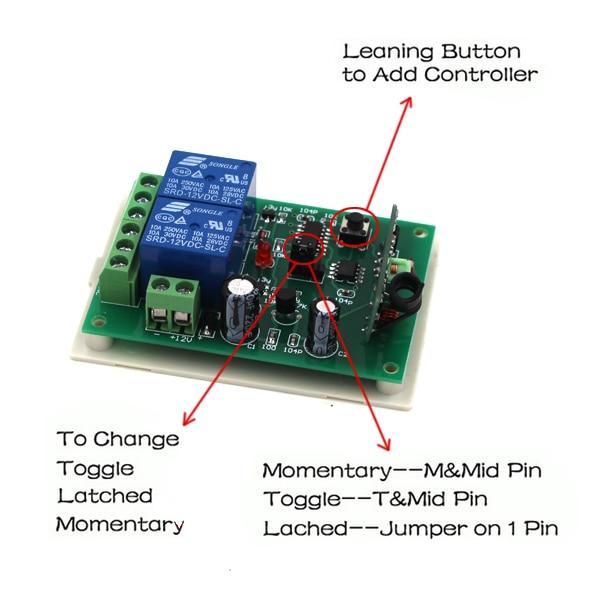 Long Range DC9V 12V 24V RF Wireless Remote Control Switch System for garage door