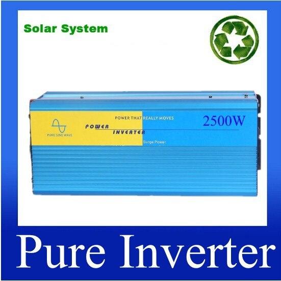 цена на sinus omvormer inverter Pure Real 2500w + Peak 5000W + Auto Car/Household Inverter 12V DC To 220V AC Pure Sine Wave 2500Watt
