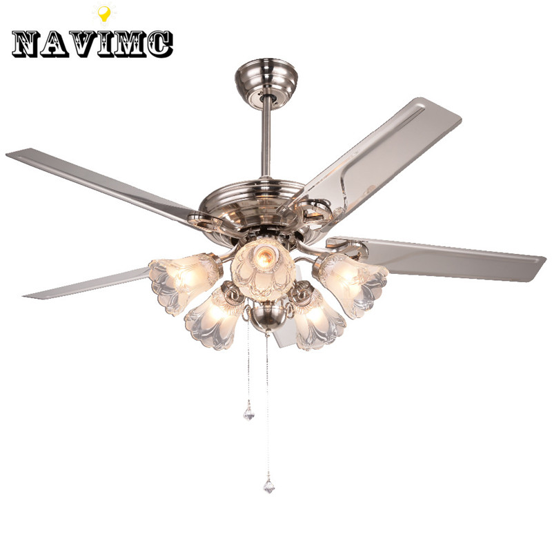 White Crystal Ceiling Fan With Lights Kits For Kids Room