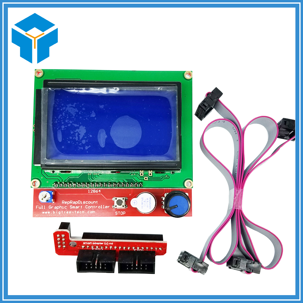 12864 LCD Ramps Smart Parts RAMPS 1.4 Controller Control Panel LCD 12864 Display Monitor Motherboard Blue Screen Module LCD12864