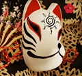 Hand-Painted Full Face Japanese Fox Mask Demon Kitsune Cosplay Masquerade Collection Japanese Noh Party Carnival C7