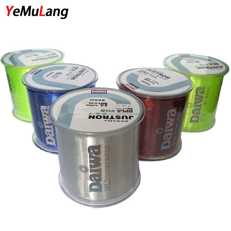 YeMuLang 0.4#-8.0# 500M Monofilament Line Daiwa Japan Fly Nylon Fishing Lines  For Carp Fishing Accessories Pesca Super Strong dc power supply uni trend utp3704 i ii iii lines 0 32v dc power supply