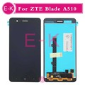 "10pcs/lot High quality 5.0"" For ZTE Blade A510 LCD Display + Touch Screen Digitizer Assembly Replacement Free Shipping"