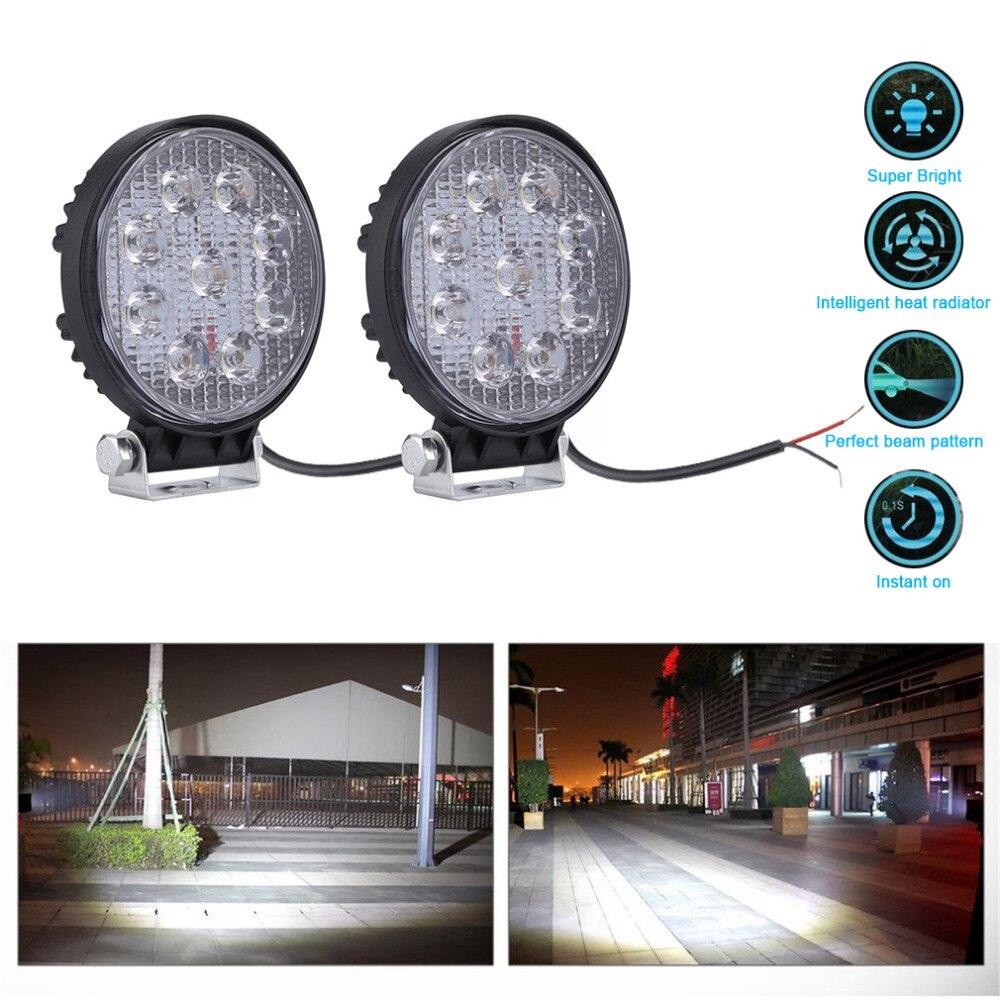 4 Inch 27W LED Work Light Floodlight 12V 24V Round LED Offroad Light font b Lamp