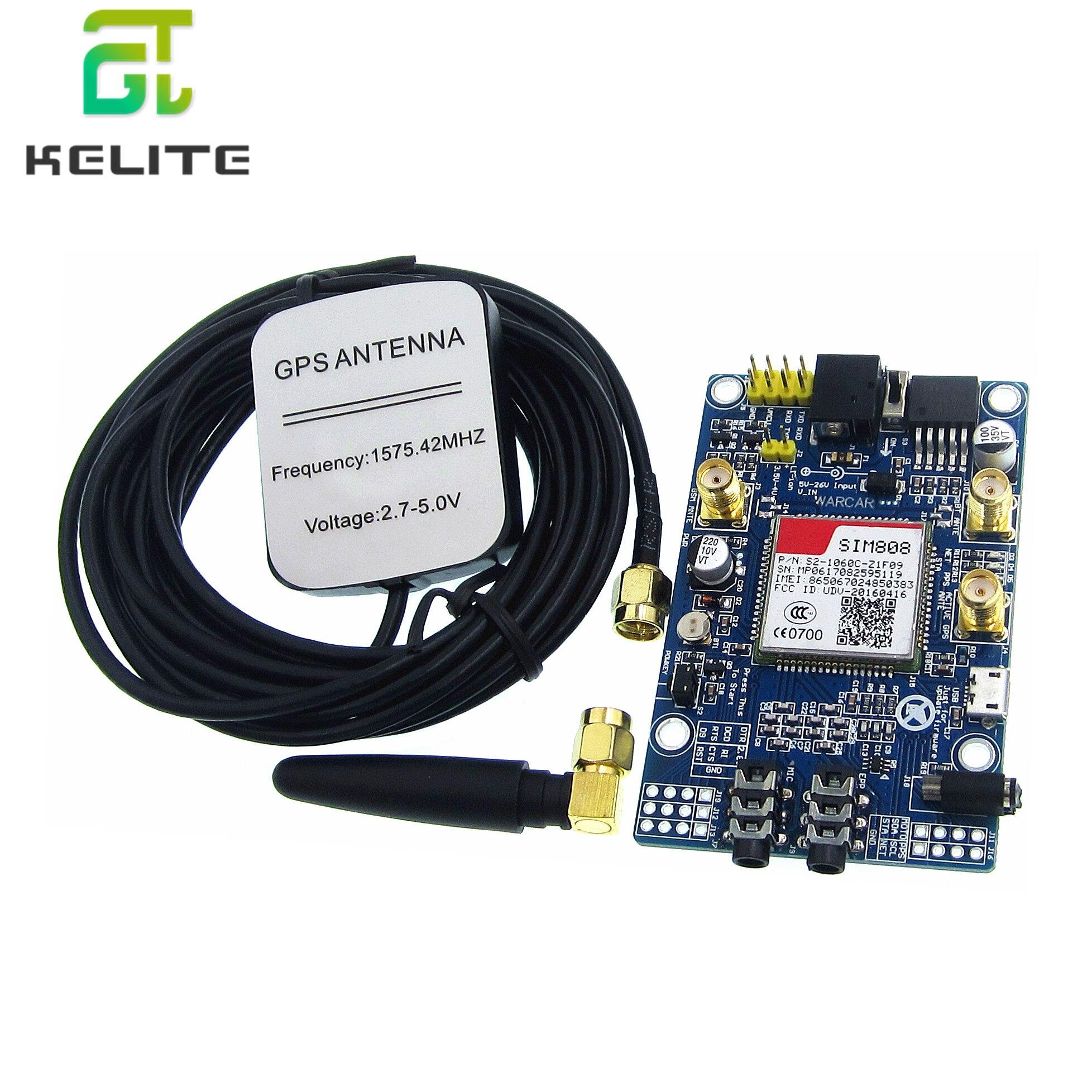 SIM808 Module GSM GPRS GPS Development Board IPX SMA Antenna Support 2G Network for Arduino Raspberry Pi