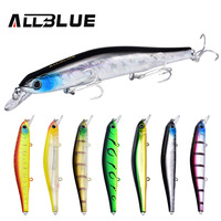 ALLBLUE Best Quality Fishing Wobbler 17 5g 110mm Suspend Minnow Pike Bass Fishing Lures With 6
