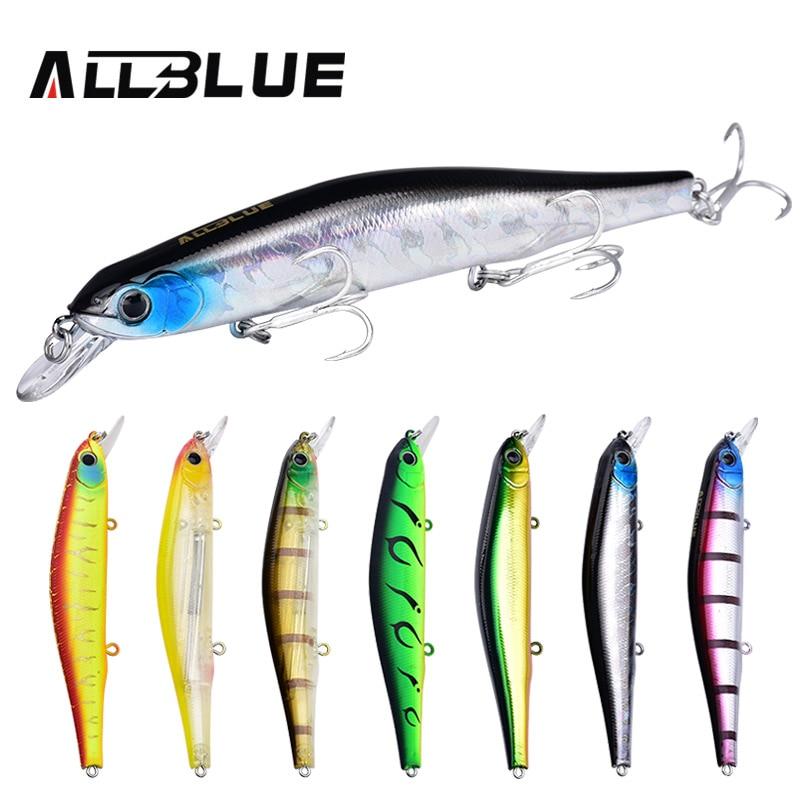 Allblue Best качество Рыбалка воблер 17.5 г/110 мм Приостановить Minnow Pike Bass Рыболовные приманки с 6 # владелец крюк рыбалка Иска искусственный