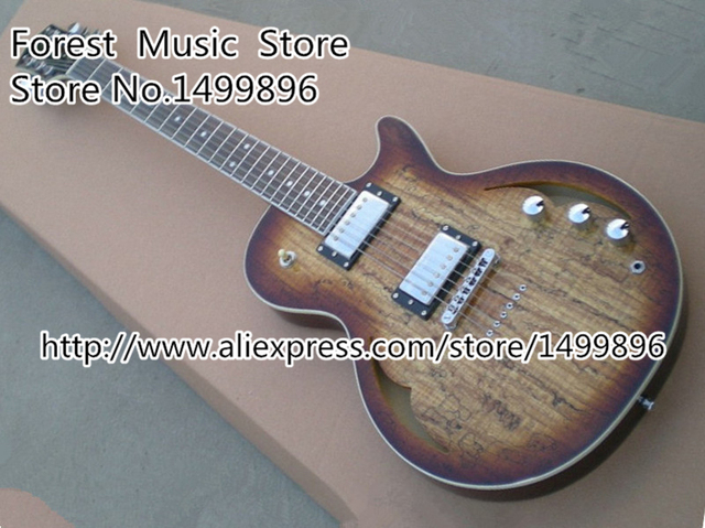Cheap Top Selling Chinese Grain Finish Parkwood Custom Electric Guitar Hollow Maple Body Guitar Left Handed Available