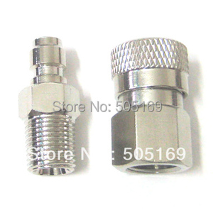 Image 3 - PCP shooting paintball Quick Disconnect Male & Female Set 1/8npt thread paintball accessories New