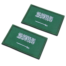 Embroidery Patch Saudi Arabian National Flag Of Arabia Embroidered Patches Military Tactical Armband Applique Badges