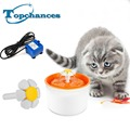 De alta calidad de nueva automático perro gato gatito fountatin tazón para mascotas plato beber agua potable filtro de orange