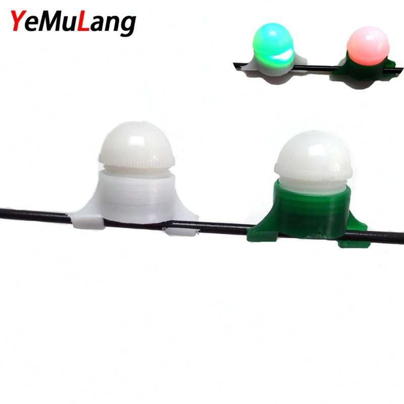 YeMuLang 1Pcs Mini Fishing Bite Alarm Bite No Battery Battery Night Ship Clip on the Strike Bite Alert Alarm Light Pesca
