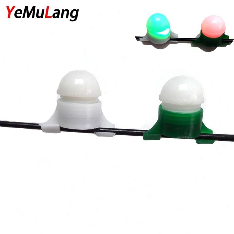 YeMuLang Brand 1Pcs Mini Fishing Bite Alarm Bite LED Night Fishing Rod Tip Clip on Fish Strike Bite Alert Alarm Light Pesca
