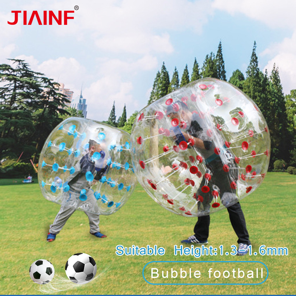 1 2m 5 Color Bubble Ball PVC Wear resistant Inflatable Bubble Zorb Soccer Ball Use For