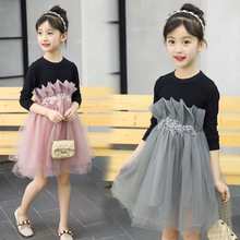 Children Princess Dress 2019 Spring New Girls Dress Cotton Long Sleeve Fashion Kids Dresses For Girls Clothes 4 6 8 10 12 Years