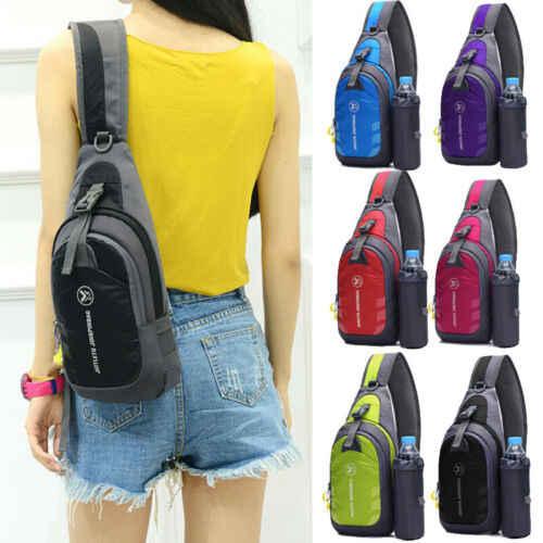 Erkekler küçük döngüsü tek kollu çanta Anti hırsızlık göğüs çanta omuz çapraz vücut Mini çanta açık spor seyahat su şişesi tutucu çanta