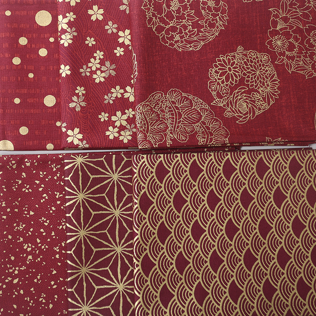 Exceptionnel Multiples couleurs rouge estampage à chaud impression Japonais  ST45