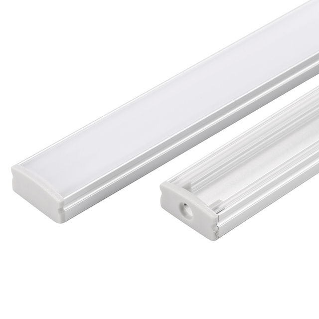 30m (30pcs) a lot, 1m per piece anodized led aluminum profile extrusion for led flexible strips light