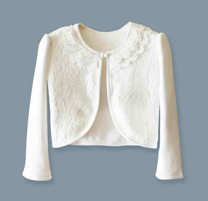 Aislor Infant Baby Girls Long Sleeve Lace Flower Cotton Knit Shrug Bolero Cardigan Sweater