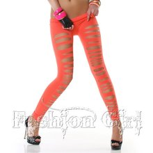 Women Vogue Punk Style Elastic Waist Fit Slim Dancing Leggings Female Stretchy Bandage Pants For Ladies Skinny Capris/Trousers