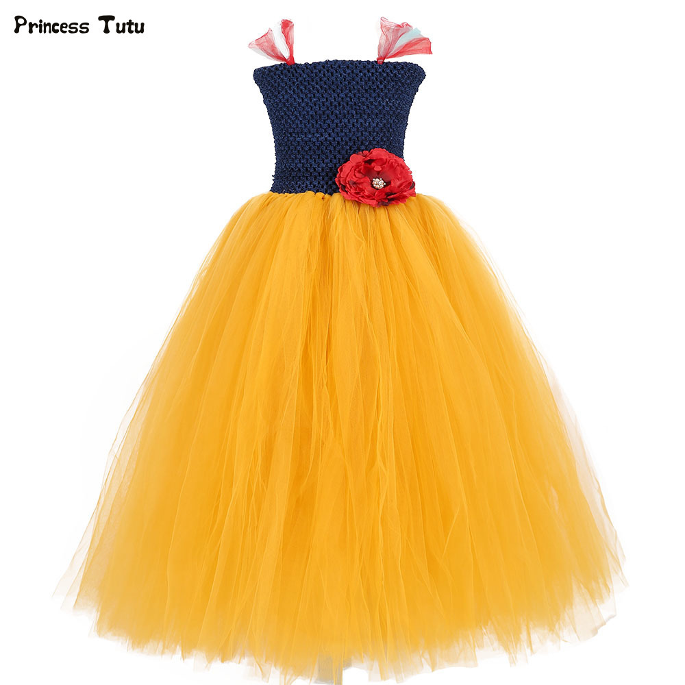Children Snow White Dress Costume Cosplay Tulle Girls Princess Dress Fancy Kids Halloween Party Tutu Dresses for Girls Clothes christmas halloween princess dress cosplay snow white dress costume belle princess tutu dress kids clothes teenager party 10 12