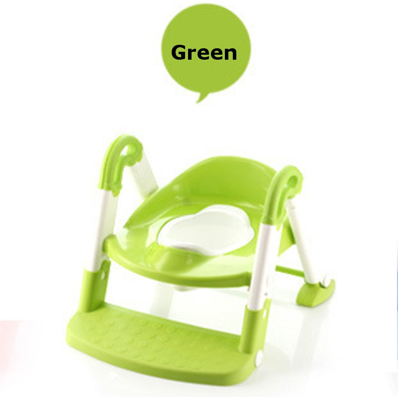 Toddler Baby PP Plastic Potty Seat With Ladder Infant Toilet Seat Cover For Kid Favor Training Chair Solid Candy Color