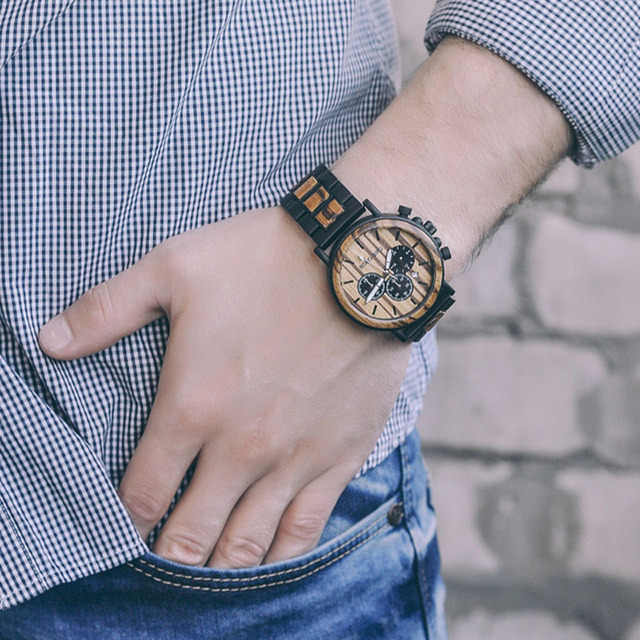 Engraved Wood Watch for Men Personalized Wooden Watches Anniversary Wedding Gift for Him Gift for Dad Son Fiance 4