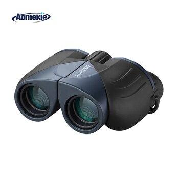 Aomekie 10x25 쌍안경 컴팩트 hd 와이드 필드 비전 fmc 광학 유리 렌즈 망원경 야외 사냥 캠핑 포켓 크기