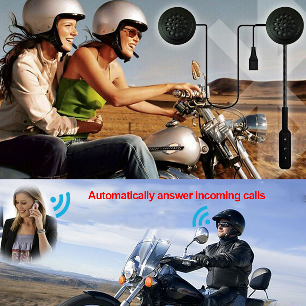 Reminder With Microphone Motorcycle Long Standby Helmet Headset Portable Universal Hands Free Music Earphones Wireless Bluetooth