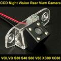Impermeable 0Lux/4 LED de visión Trasera Cámara de Copia de seguridad para Estacionarse en Reversa cámara para volvo s80 s40 s60 v60 xc90 xc60 coche 8045LED