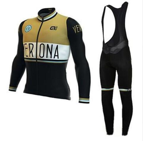 2018 ALE Autumn Cycling Jersey Mens Long Sleeve Riding Suit Bicycle Cycling Clothing Bike Shirt Maillot Ropa Ciclismo Bib Pants