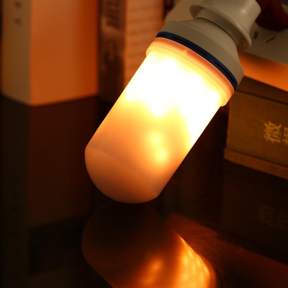 E27 Base Type LED Flame Bulb AC85-266V 1200K Third Gear Mode Simulation Flame Dynamic Lighting Flickering Effect