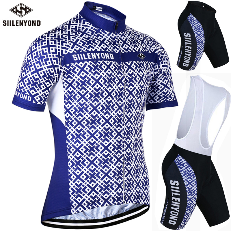 ФОТО SIILENYOND Saxon Quick Dry Cycling Jersey Set Summer Mountain Bicycle Clothing Ropa Bicicleta Maillot Ciclismo Bike Clothes Set
