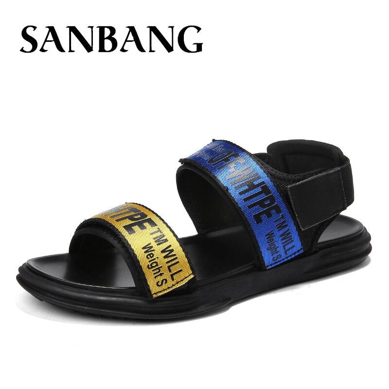 2018 New Hot Sale Sandals Men Summer Slip On Shoes Peep-toe Flat Shoes Roman Sandals Mujer Sandalias Flip Flops Beach Sandal CX5