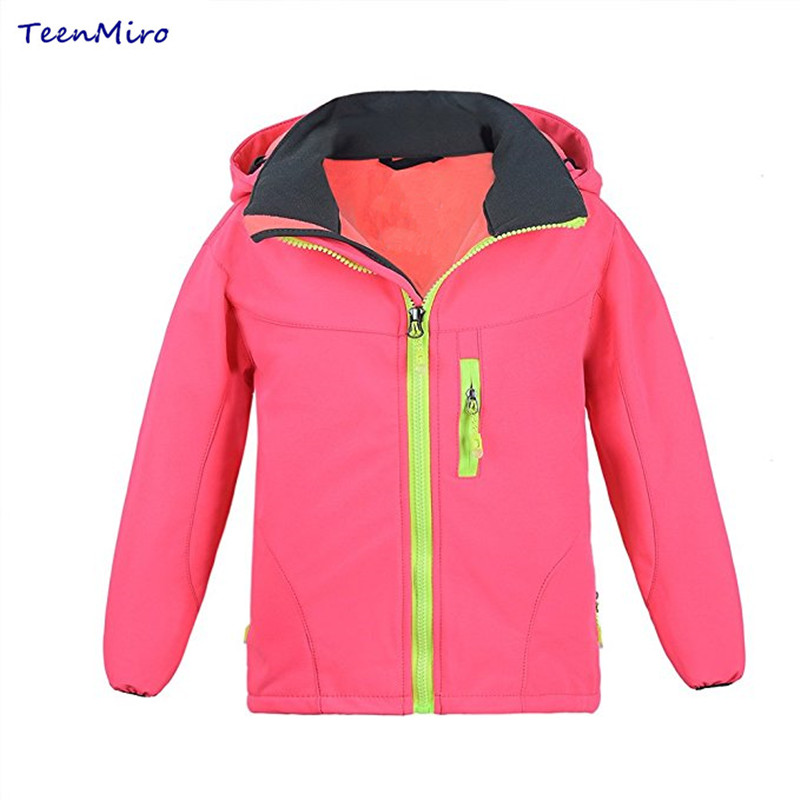 Kids Softshell Hiking Jackets Boy Girl Sport Coat Clothes