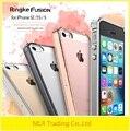 100% original ringke fusión caso para iphone 5/5s/5se cristal claro pc volver cubierta de la caja del teléfono de tpu para el iphone 5/5s/5se