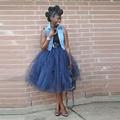 Las Mujeres africanas Tulle Tutu Falda de Té de Longitud Faldas Sólido Ocasional 2016 Verano Barato Faldas Envío Gratis