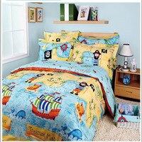 Free shipping cotton cartoon Pirates of the Caribbean bedding set 3/4pcs duvet cover bed sheet pościel sabanas home textile
