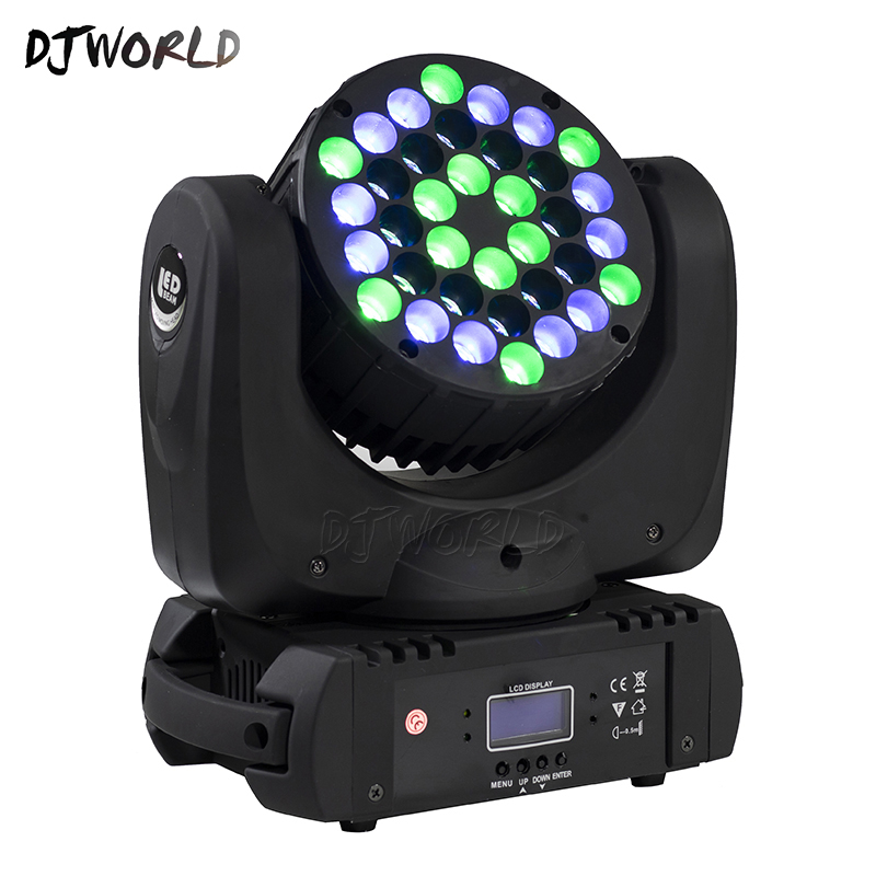 LED Beam 36x3W Moving Head Light RGB LED Wash Light With 9/16 Channels Linear Dimming DMX512 Stage Lights Professional Stage&DJ-in Stage Lighting Effect from Lights & Lighting