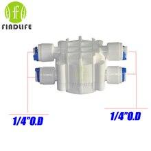 Water Filter Parts 1 4 OD tube Auto Shut Off 4 Way Valve Pressure Regulator Aquarium