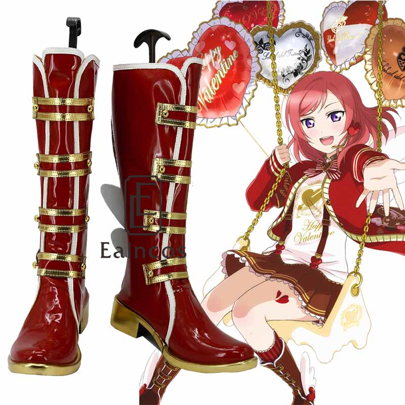 font b Anime b font Love Live Rin Hoshizora Valentine s Chocolate Red Boots font
