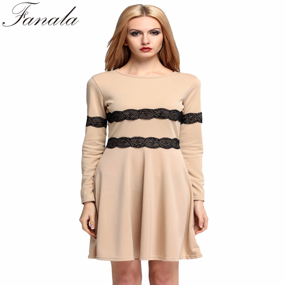 FANALA Empire Autumn Winter Dresses Women Fashion 2017 O ...