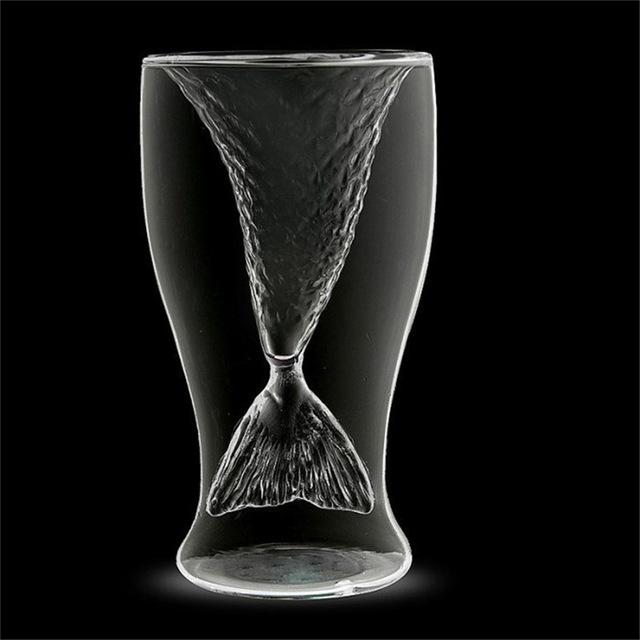Creative Mermaid Themed Cocktail Glass