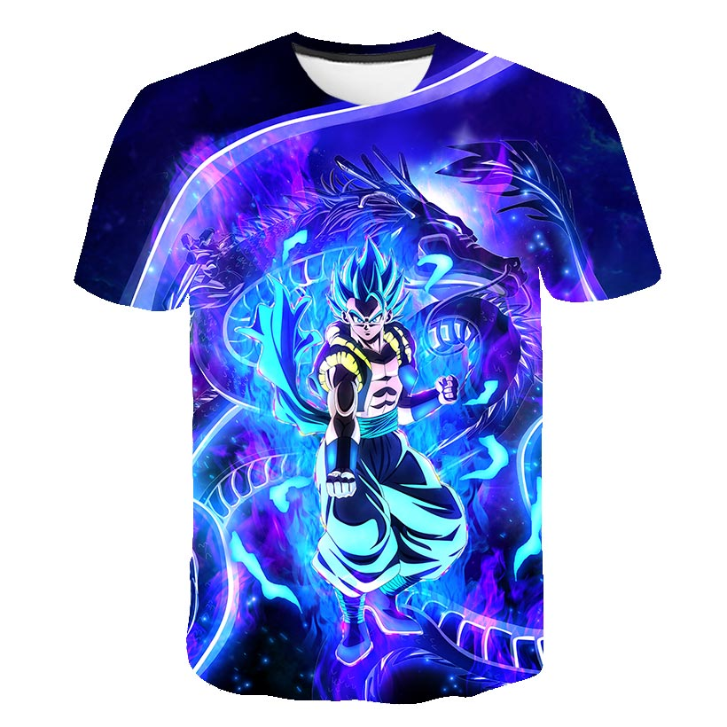 Dragon Ball Super Broly 3D Printed Children T shirts Fashion Summer Short Sleeve Tshirts 2019 Harajuku Casual Streetwear T shirt in Matching Family Outfits from Mother Kids