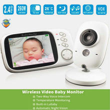 3.2 inch Night Version Camera Wireless Baby Monitor High definition Color Display Security Surveillance 2 way video intercom