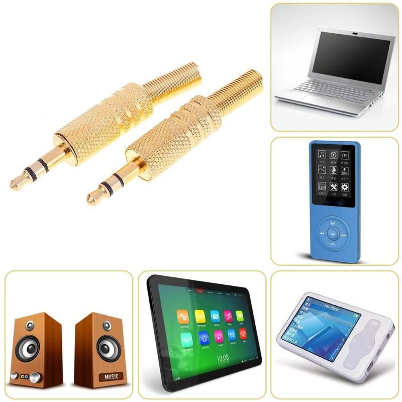 2Pcs Stereo 3.5mm 1/8in Headphone Earphone DIY Male Audio Jack Plug Solder Connectors For Computers Laptops Tablets MP3 Hot Sale