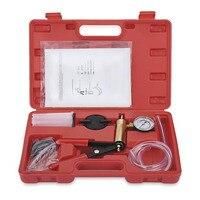 1 Sets Hand Held Vacuum Pump Tester Set And Brake Bleeder Kit Car Motorbike Self Vacuum Pump Screw Adapter With Vacuum Gauge
