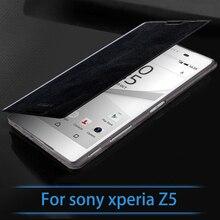 Оригинал Mofi Для Sony Xperia Случае Z5 Высокое Качество Кожи Сальто Аргументы За стойки Sony Xperia Z5 Книга Стиль Крышку Сотового Телефона