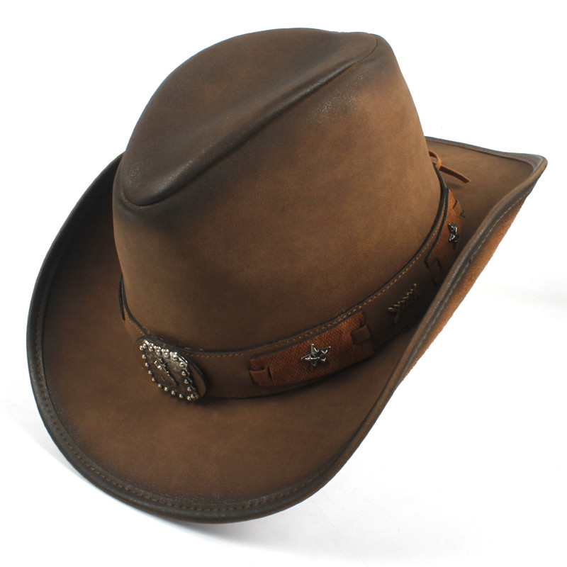 Western Leather Cowboy Hats for Women & Men 17